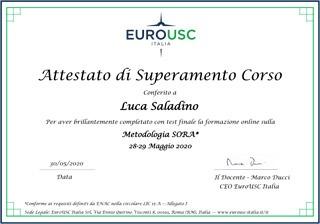 Certificazione Metodologia SORA